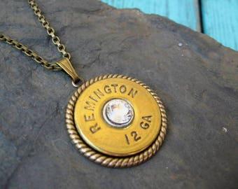Shotgun Shell Necklace - Bullet Necklace - N379