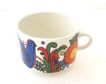 "Villeroy & Boch OVERSIZED ACAPLUCO Coffee Cup Mug Roma Shape 3 1/2"" Diameter"
