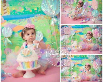 Pink Tutus for Baby Girls, Candyland Birthday Dress Tutu Outfit, 12 Months, 1 Year Old