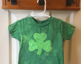 Green Shamrock Kids Shirt, Kids Shamrock Shirt, Boys Shamrock Shirt, Girls Shamrock Shirt, St. Patrick's Day Shirt (18 months)