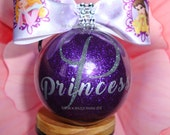 Black Friday sale, Princess Decorations, Personalized Ornaments, Princess ornaments, Christmas Ornaments, Birthday Ornaments, Santa Ornament