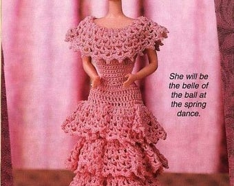 Instant download Crochet Pattern - Barbie in the Pink Teen Doll Dress