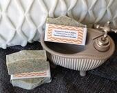 Savon à la soie  clémentine et thé, exfoliant, thé noir, thé vert
