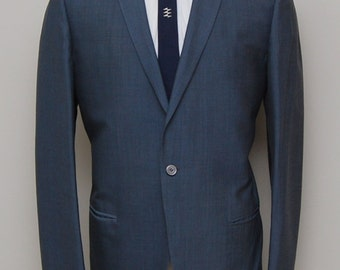 1960s men's blue wool blazer/ 60s men's blue blazer/ Austin Reed