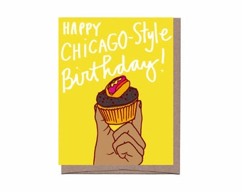 City Cupcake Birthday Card