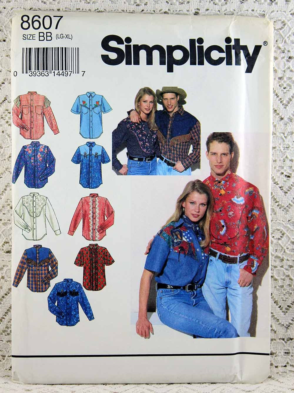 Simplicity 8607 misses western shirt sewing pattern mens sold by allyssecondattic jeuxipadfo Images