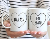 Couples Gift Set Couples Mugs Valentines Day Gift for Him Husband Gift Dat Ass Boyfriend Gift Wife Gift Anniversary Gift for Boyfriend