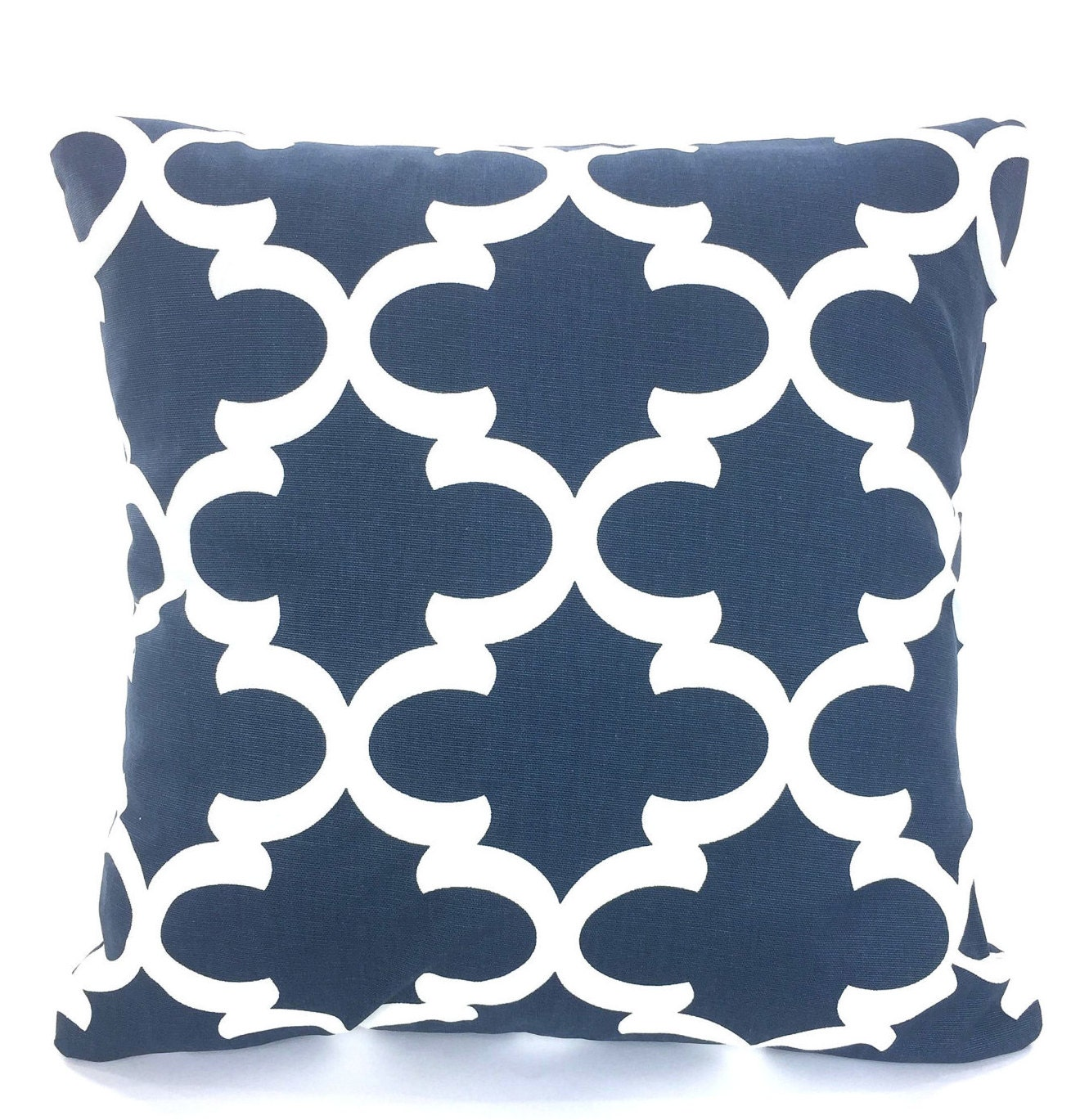 Navy Throw Pillows For Bed : Navy Blue White Pillow Covers Decorative Throw Pillows