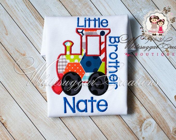 Boys Train Shirt, Custom Personalized Boy Shirt, Little Brother Shirt, Big Brother Shirt, Siblings Shirt - Train Outfit
