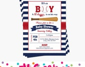 Baseball Baby Shower Invitations - Baseball Party Printable Invitation - Sports Party Digital Printable Invite - Boy Baby Shower Invitation