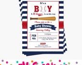 Baseball Baby Shower Invitations - Invitation imprimable partie de Baseball - Sports Party invitation imprimable numérique - Invitation de douche de bébé garçon