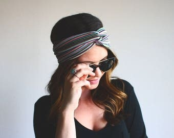 The Bright Stripes - Turban Style Headband
