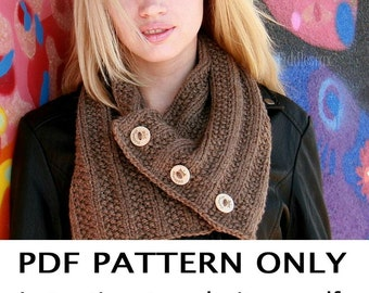 Knitting Pattern - Cowl Pattern - Scarf Pattern - the ASHLEY Cowl (Toddler, Child, Adult sizes)