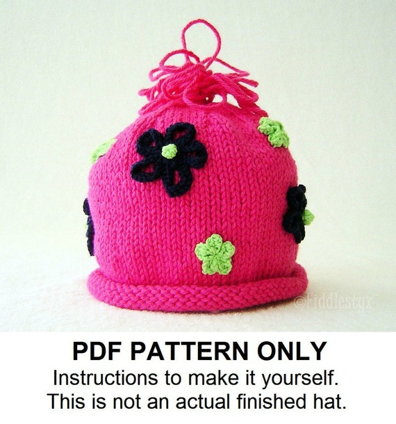 Knitting Pattern - Girls Hat Pattern - the MOLLY Hat (Newborn, Baby, Toddler, Child & Adult sizes incl'd)