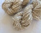 NATURAL UNDYED Cotton Linen yarn 100gr/3.5oz.