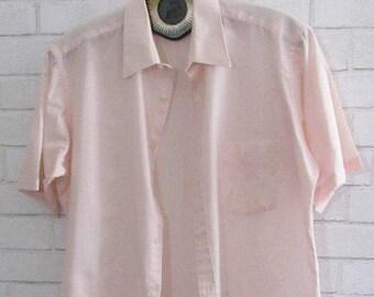 Mens Pink Ketch Collared Shirt, Small/Medium