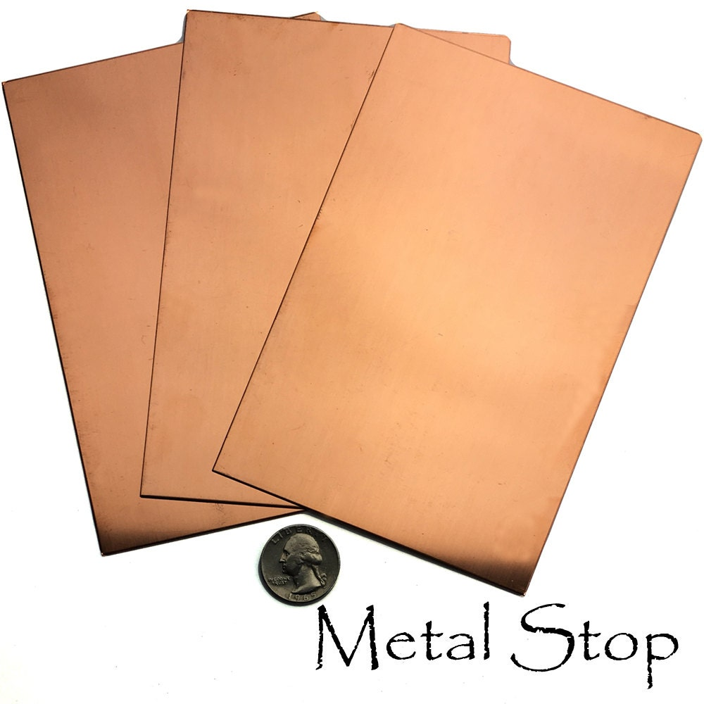 3 Copper Sheets 20 Gauge 4 X 6 Copper Sheet Metal