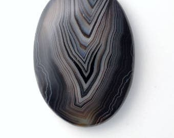 Onyx Cabochon ~ Large Oval Cabochon ~ Designer Cabochon ~ Statement Pendant Gemstone ~ Oval Cabochon ~ Natural Stone ~ Jewelry Supplies