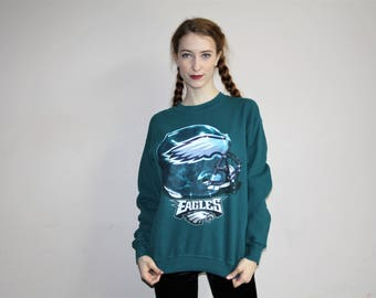 Vintage 90s Philadelphia Eagles NFL Pullover Sweatshirt - 1990s NFL Sweatshirts - 90s Clothing - WV0375