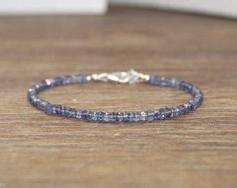 Blue Mystic Quartz Bracelet, Quartz Jewery, Minimalist, Layering Bracelet, Blue, Gemstone Jewelry