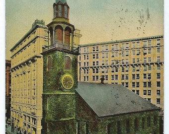 Vintage 1914 Postcard, Old South Church, Boston, Mass.