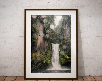 Toketee Falls, Oregon, Pacific Northwest Travel Photography, Art Print