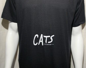 Cats - Broadway musical, Andrew Lloyd Webber, T.S. Eliot, Jellicles, Tony awards, play, soft 50/50 black t-shirt - men's sz L/XL