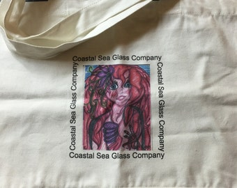 "Reusable cotton ""Mermaid"" shopping bag"