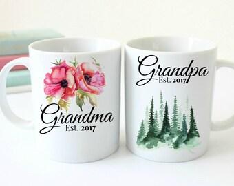 Grandparents. Husband Wife Custom 11 oz  Ceramic Dishwasher Safe