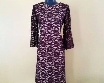 Brown Lace Cocktail Dress size Large