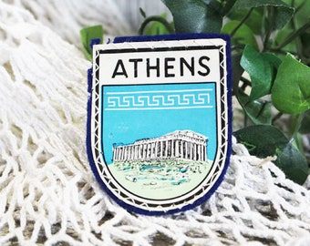 Vintage Athens Greece Patch
