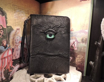 IPad mini 1/2/3 Cover(Black leather with Green Eye)