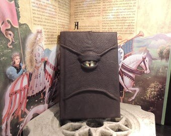 Journal---Mythical Beast Book (The Watchful Eye-Chocolate Brown with Yellow eye)