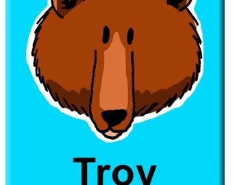 Bear illustration, Painting boys room, Bear painting, Painting with bear, Nursery Art, Bear illustration