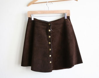 Suede Leather Mini Skirt m