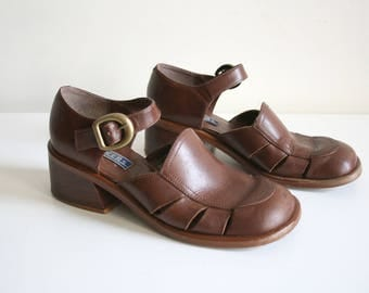 SALE 90s Bakers Chunky Clogs 8