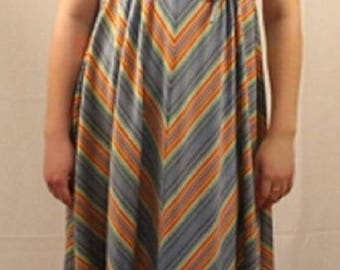 1970's True Vintage Ladies Baby Doll Style Dress Size Small Free Shipping!