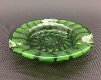 Green Honeycomb Dish // Silver & Gold Fumed Ash Tray