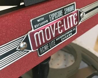 vintage movie light handheld acme midcentury industrial