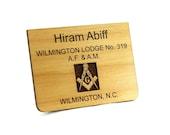 Masonic Wooden Name Tag