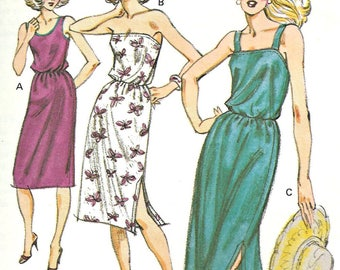 Vintage Kwik Sew Pattern 988 Size XS, S, M, L Summer Dress 1970