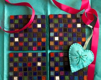 Set of 4 Tutti Frutti Mosaic Coasters