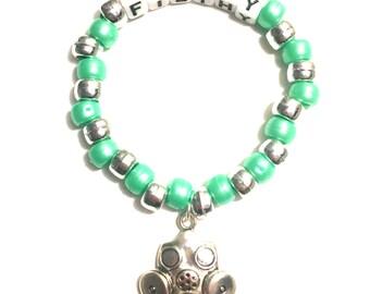 Rave Kandi bracelet- Gas Mask, Filthy, EDC beaded bracelet