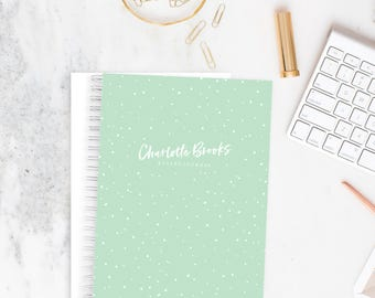 Bullet Journal Planner Weekly Personalized Notebook - Snow | Custom | Stationery | Monogram | Journal | Agenda | Organiser | Goals
