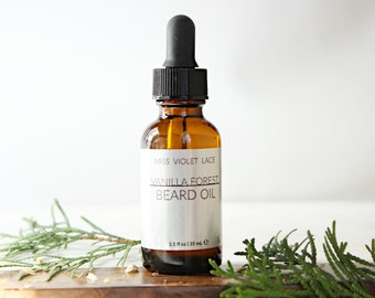 Vanilla Forest Beard Oil | 100% natural and vegan beard oil | Men's Grooming - TRAVEL SIZE