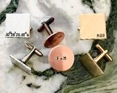 Decimal Coordinates Personalized Cuff Links, Custom Hand Stamped Cufflinks, Personalized Cufflinks, Your Name Personalized Stamped Cufflinks
