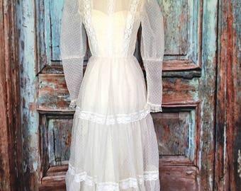 Swiss Dot Maxi Dress