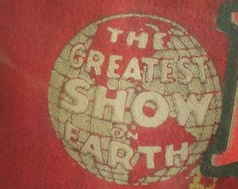 Vintage 1970's Felt Circus Pennant - Ringling Bros. And Barnum And Bailey - Centennial