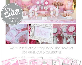 Ballerina Birthday Decorations | Ballerina Party Printable | Ballet Birthday | Ballet Party | Dance Birthday | Amanda's Parties To Go