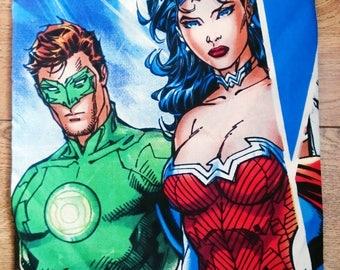 Dc comics cushion, green lantern, wonder woman, character cushion cover, pillow cover comic book, super hero